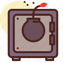 steal, bank, theft, safebox, bomb icon