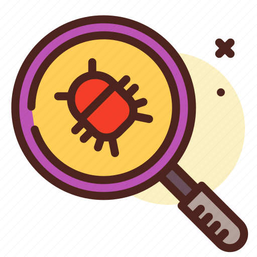 bug, insect, magnify, scan, virus icon