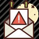 email, message, sending, warning