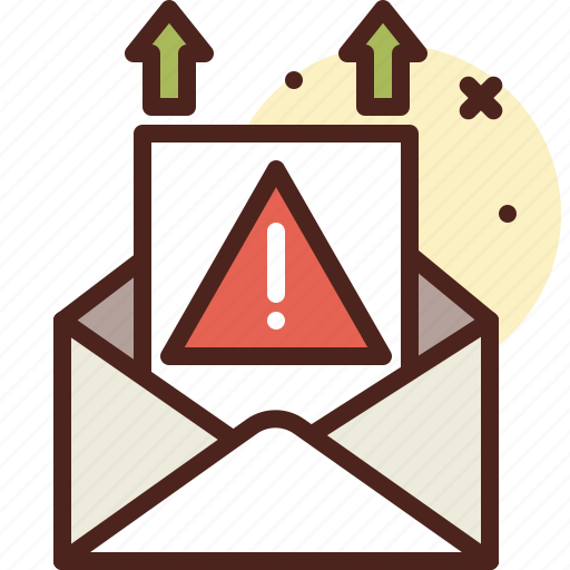 email, message, sending, warning icon