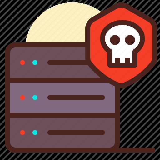 hijack, internet, network, servers, shutdown icon