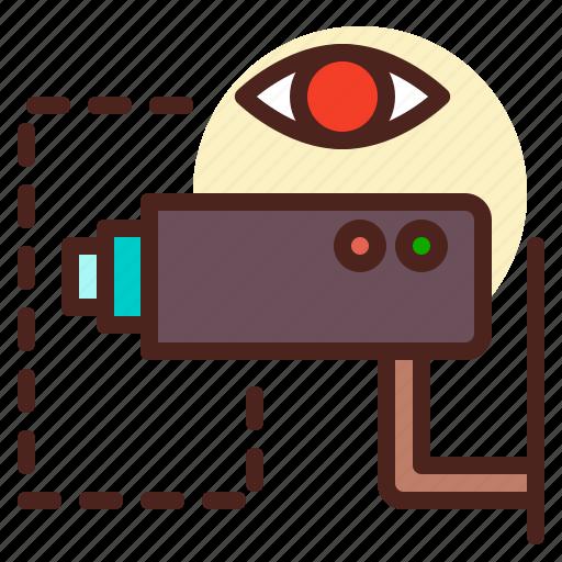camera, live, surveillance, vide icon