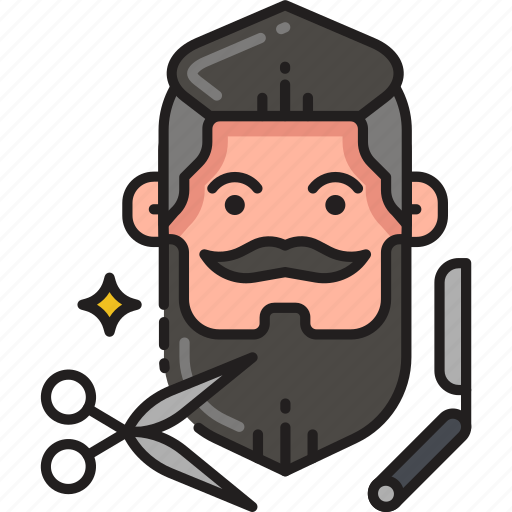 beard, haircut, hipster, man, moustache, mustache, trim icon