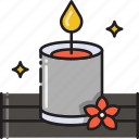 aroma, aromatherapy, candle, decoration, light, therapy icon
