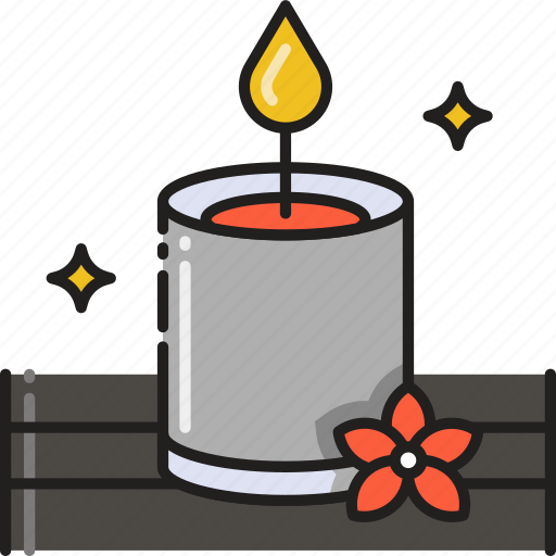 Candle, decoration, light, therapy, aromatherapy, aroma icon