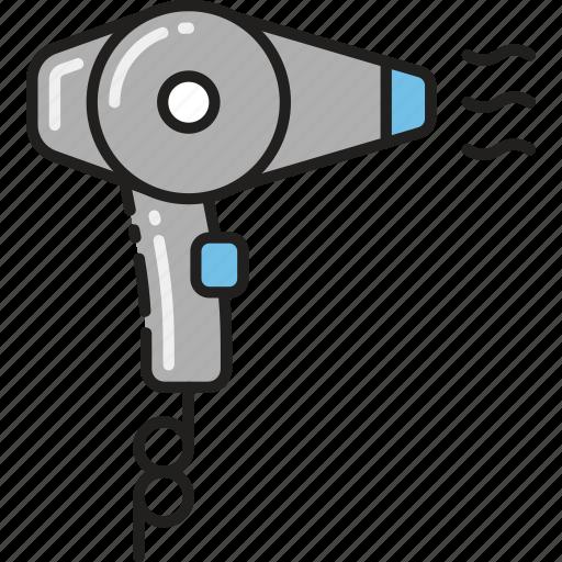 blowdry, blowdryer, dryer, hair, saloon icon