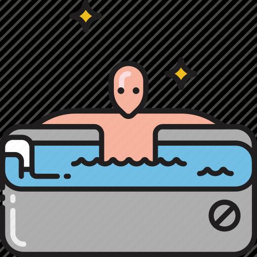 bath, bathtub, jacuzzi, jakuzi, jakuzzi, spa, wash icon