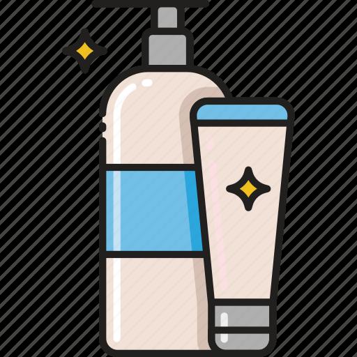 Lotion, beauty, shampoo, products, care, soap, cream icon