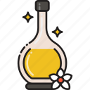 beauty, flask, massage, oil, serum icon