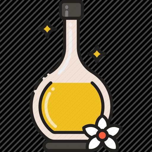 beauty, flask, massage, oil, serum icon