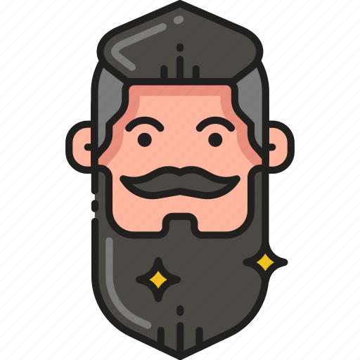 beard, fashion, hipster, male, man, moustache, mustache icon