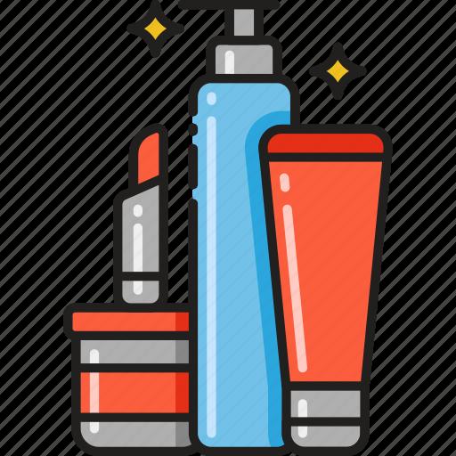 beauty, cosmetics, lipstick, makeup, products, shampoo, styling icon