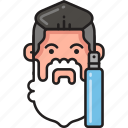 dispenser, foam, man, shave, shaving, soap, soapy icon