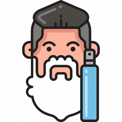 dispenser, foam, man, shave, shaving, soap, soapy icon