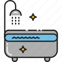 bath, bathroom, bathtub, hygiene, shower, tub, wash icon