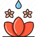 lotus, meditation, relaxation, spa, treatment, yoga, zen icon