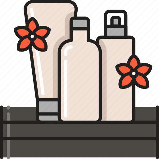 Spa, products, conditioner, shampoo, treatment, beauty, lotion icon