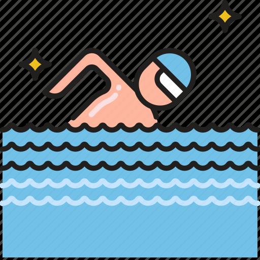 beach, ocean, pool, sea, swim, swimmer, swimming icon