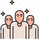 bald, group, people, team, users icon
