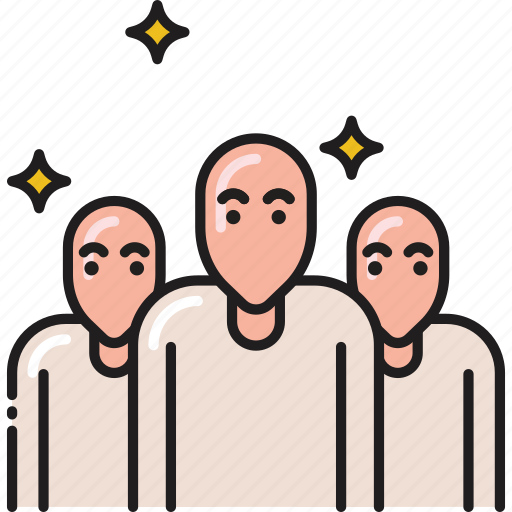 Team, bald, group, users, people icon