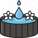 bath, bathtub, drop, pond, spa, wash, water icon