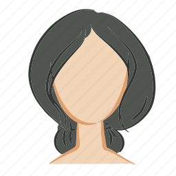 beauty, face, girl, hair, head, woman icon