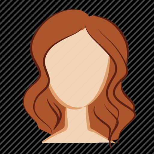 beauty, brown, face, girl, hair, head, woman icon