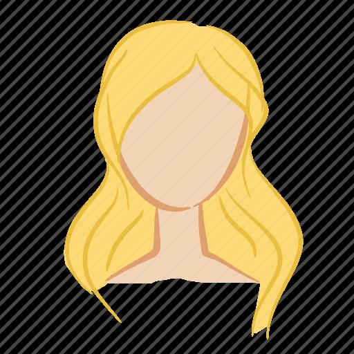 beauty, blonde, face, girl, hair, head, woman icon