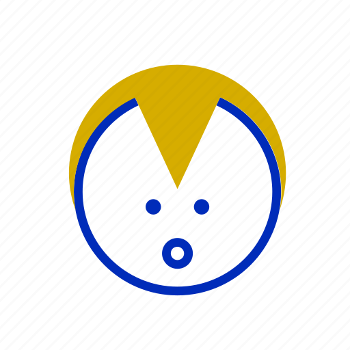 avatar, blonde, emoji, face, kids, laugh, smile icon