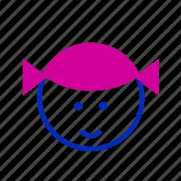avatar, emoticon, emoticons, person, profile, smile, tied icon