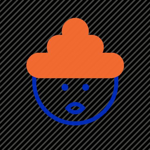 bun, emoji, expression, happy, redhead, smiley, weiner icon