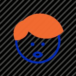 business, emoji, emotion, face, finance, redhead, smile icon