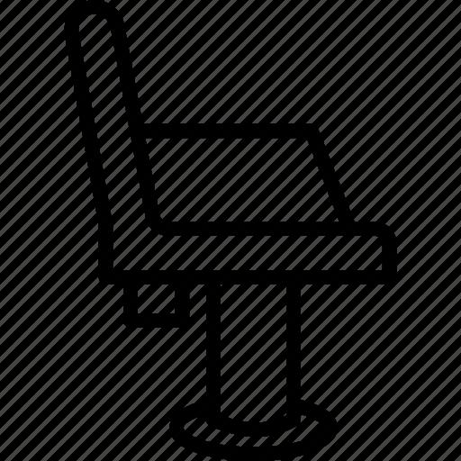 barber chair, cutting chair, salon chair, salon equipment, salon furniture icon