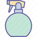 bottle, shower bottle, spray, sprayer, watering icon