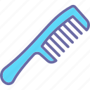 comb, detangling comb, hair comb, hairstyle, wide tooth comb icon