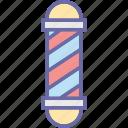 barber pole, barber shop, hair salon, hairdressing, salon pole icon