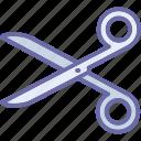 barber scissor, cutting, hair cut, scissors, trimming icon