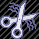 barber scissor, cutting, hair cut, hair dressing, scissors icon