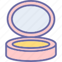 compact powder, cosmetics, makeup, powder case icon