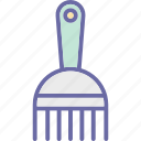 afro comb, clipper comb, comb, hair comb, hair salon icon