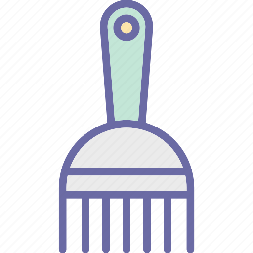 afro comb, clipper comb, comb, hair comb, hair salon icon