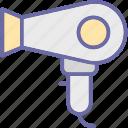 blow dryer, hair dressing, hair dryer, hair salon, hair styling icon