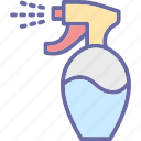 bottle, hair spray, salon spray, spray bottle, sprayer icon