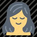beauty, female, hair, solan icon