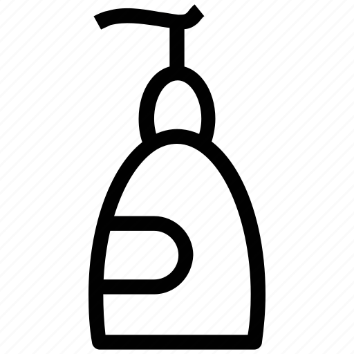 bottle, liquid soap, shampoo, shampoo bottle, soap dispenser icon