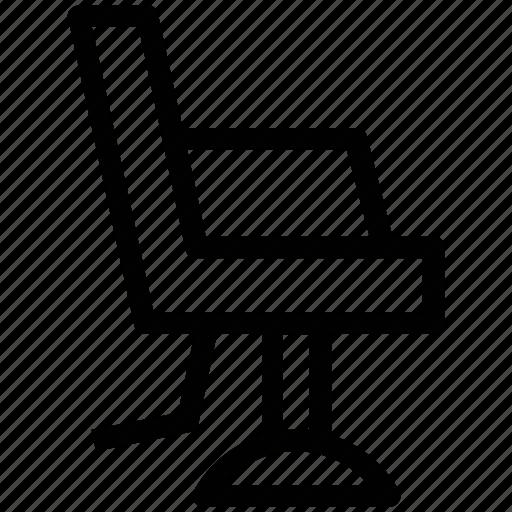 barber chair, cutting chair, salon chair, salon equipment, salon furniture, styling chair icon