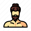 barber, beard, hair, hairstyle, hipster, man, retro icon