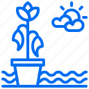 agriculture, leaf, plant, water, withered icon
