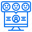 avatar, computer, feedback, marketing, rating, review icon