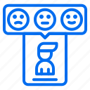 avatar, feedback, marketing, phone, rating, review icon